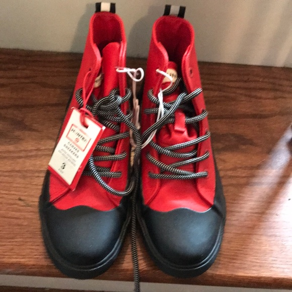 NEW HUNTER For Target Dipped Red Canvas Sneaker Rain Boots Shoes Kids SIZE 1